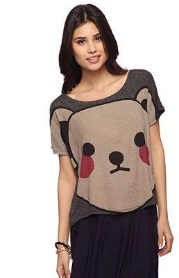 Cuki trend: szomorú kisállatos pulcsik - Japán maci pirospozsgás, de ez sem menti meg attól, hogy inkább depressziós bocsnak tűnjön. Bármit is tettünk, bocsánatot kérünk!