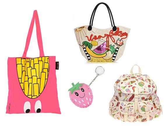 Top3 táskatrend nyárra - A gyümölcsös minták a nyár abszolút slágerei – bármilyen színes nyári ruhához vagy póló-trikó összeállításhoz passzolnak.