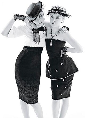 Dakota és Elle Fanning a W Magazine-ban - A negyvenes éveket idéző szerelésben