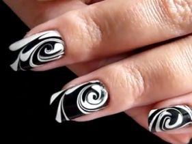 Dögös: fekete-fehér márványos minta