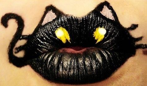 Cuki szájdizájn szilveszterre! - Cicalányoknak nyerő lehet egy macska az ajkakra!