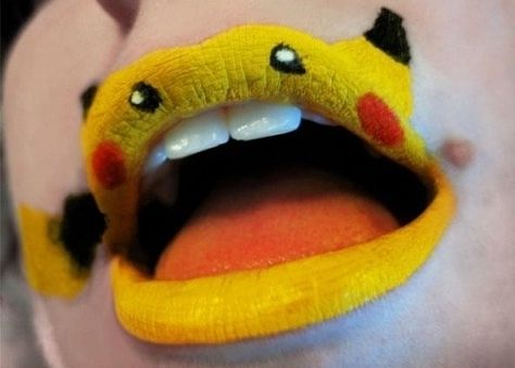 Cuki szájdizájn szilveszterre! - Ha Pokémon fan vagy, egy tündéri Pikachu a neked való minta!
